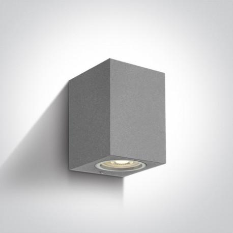 One Light kinkiet kostka szary Arco 67426/G IP65