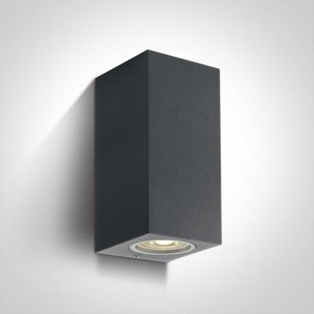 One Light kinkiet antracytowy zewnętrzny dom elewacja Arco 2 67426A/AN IP65