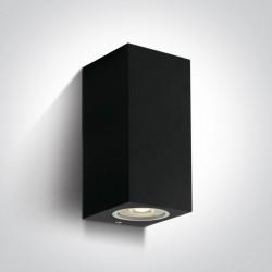 One Light kinkiet czarny zewnętrzny dom elewacja Arco 2 67426A/B IP65
