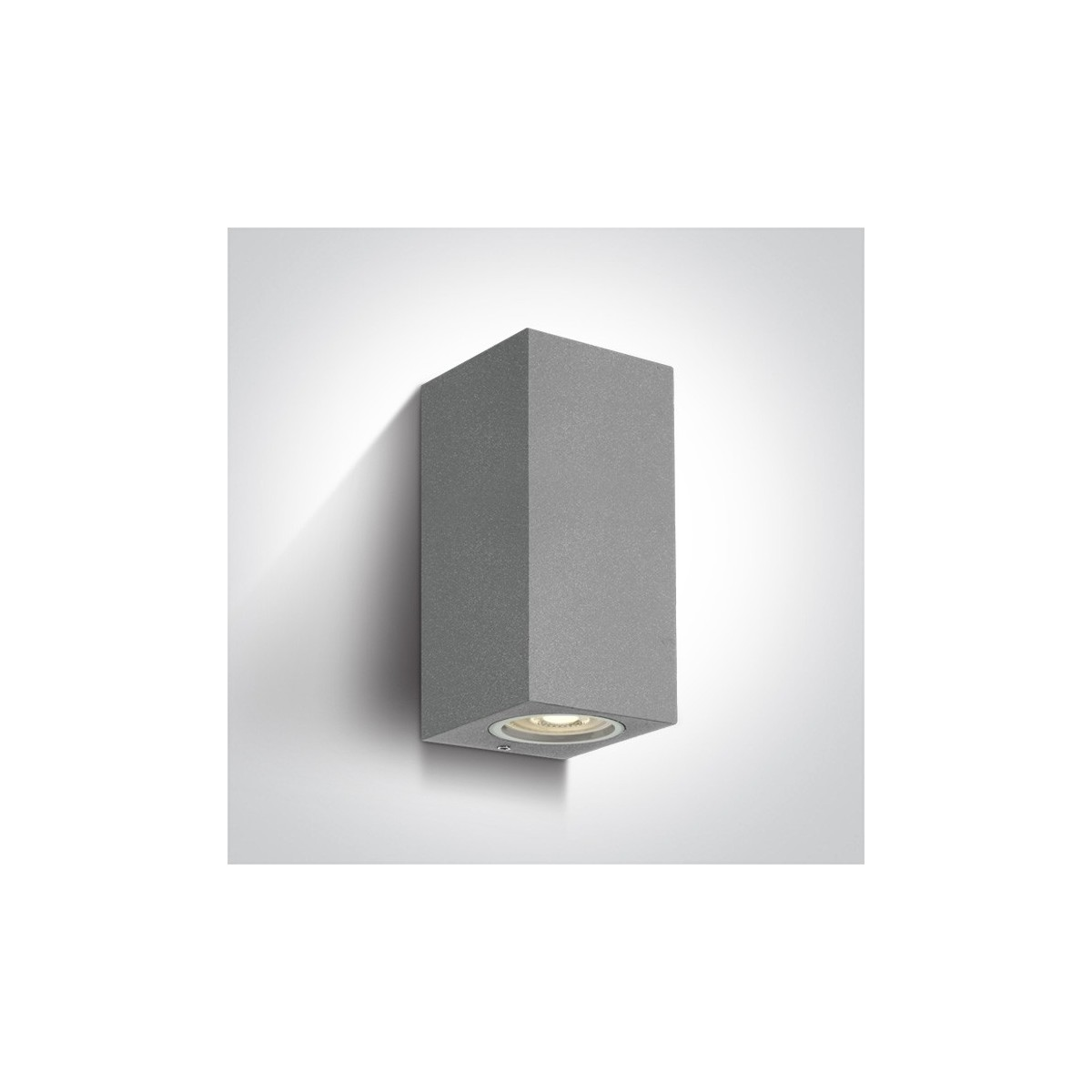One Light kinkiet szary zewnętrzny dom elewacja Arco 2 67426A/G IP65
