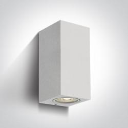 One Light kinkiet biały zewnętrzny dom elewacja Arco 2 67426A/W IP65