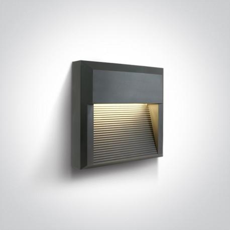 One Light kinkiet LED kratka mieszkanie dom elewacja Mavra 67430A/AN/W IP65
