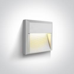 One Light kinkiet LED kratka mieszkanie dom elewacja Mavra 67430A/W/W IP65