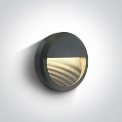 One Light kinkiet okrągły LED kratka dom wnętrze elewacja Tragano 67430B/AN/W IP65