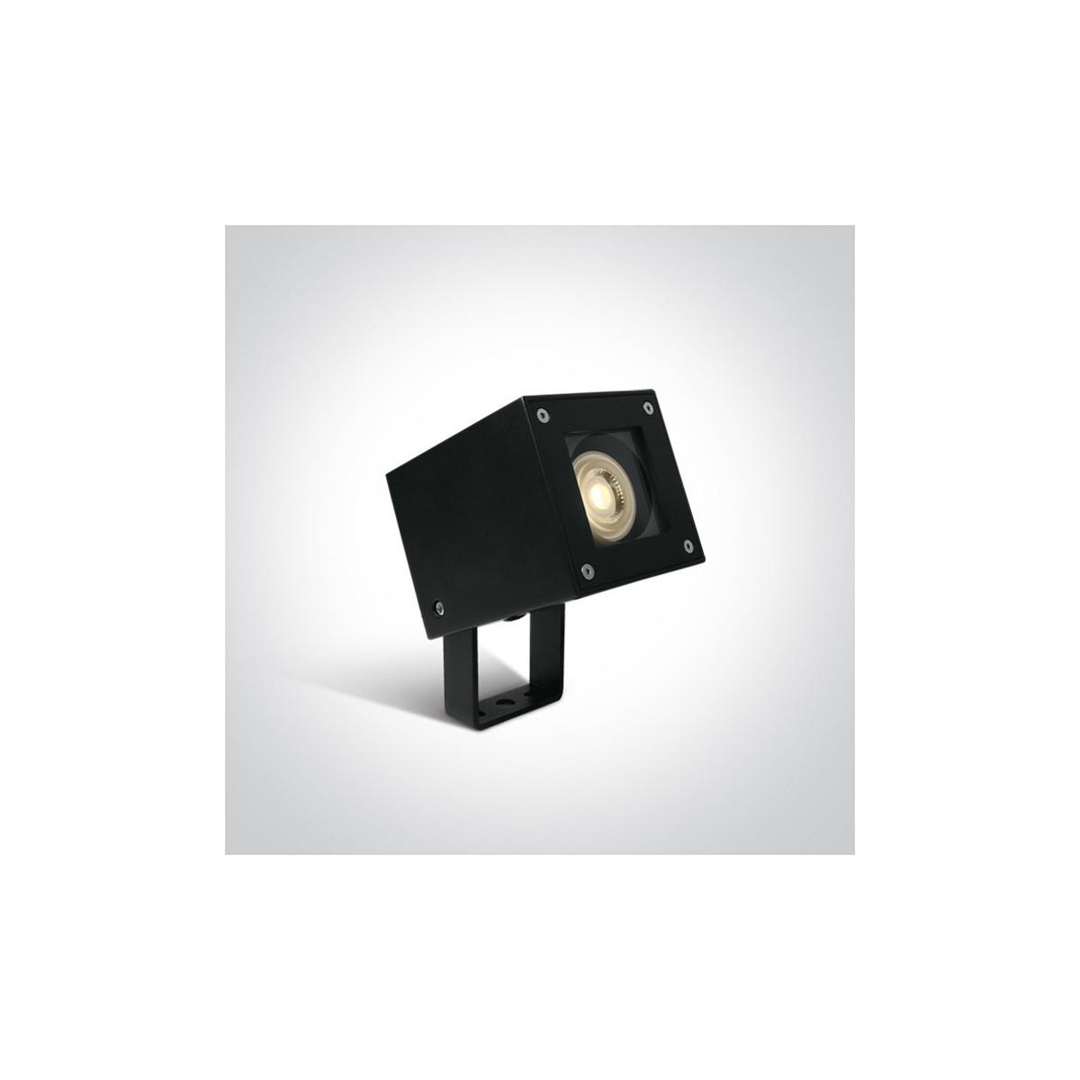 One Light reflektor lampa ogrodowa czarna kwadratowa Simiza 67432/B IP65
