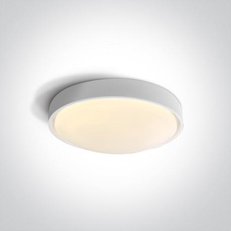One Light plafon LED biały dom wnętrze ogród Mirtos 67436/W/W IP44