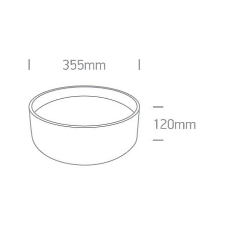One Light plafon 35 cm okrągły czarny idealny do mieszkania Sinora 67438/B/W