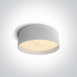 One Light plafon 35 cm okrągły czarny idealny do mieszkania Sinora 67438/W/W