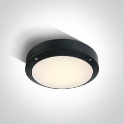 One Light kinkiet okrągły 22cm LED dom ogród Akteo 67442/B/W IP54