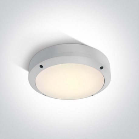 One Light kinkiet okrągły 22cm LED dom ogród Akteo 67442/W/W IP54