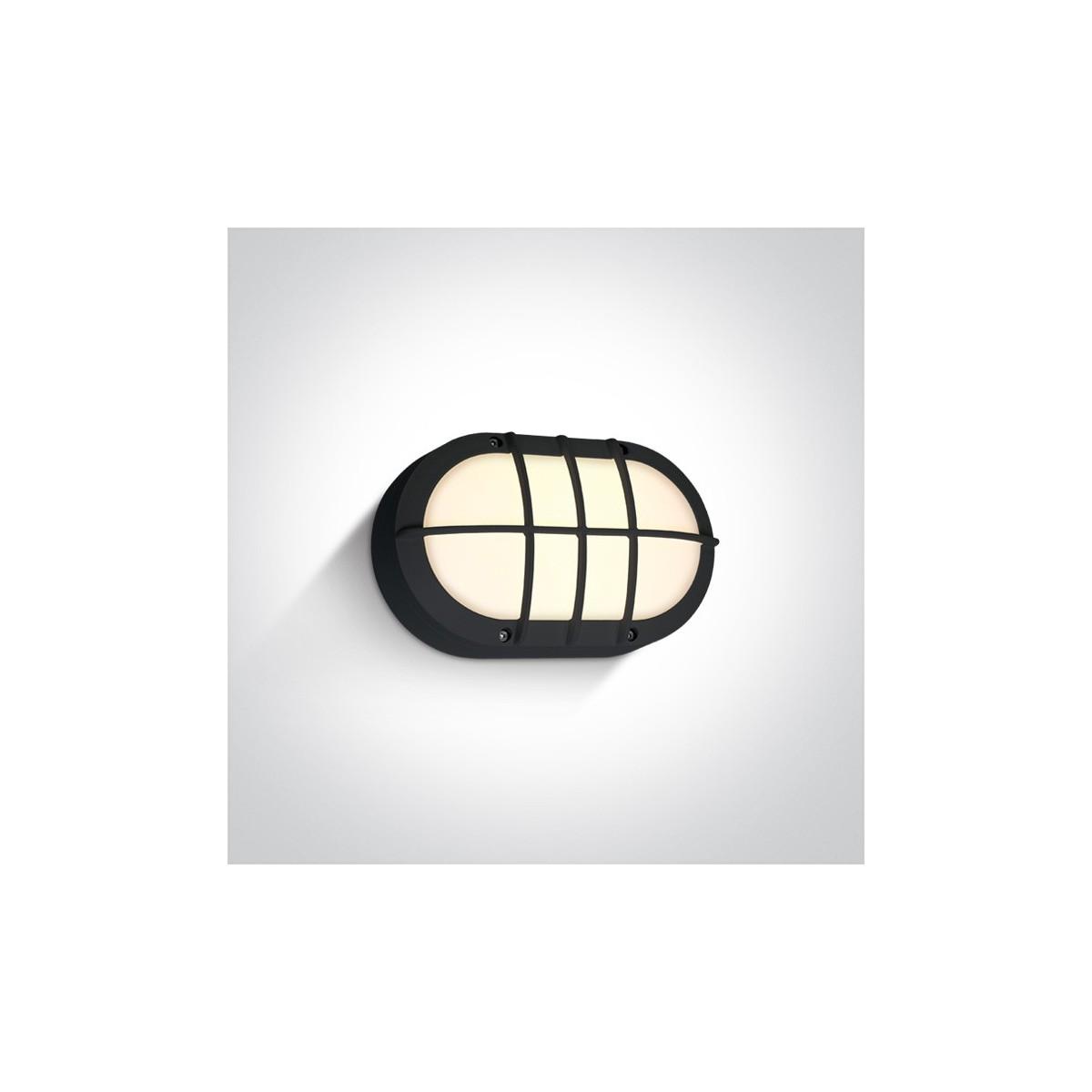One Light kinkiet LED retro z kratką kanałowa czarny Valmi 67442C/B/W IP54