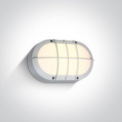 One Light kinkiet LED retro z kratką kanałowa biały Valmi 67442C/W/W IP54
