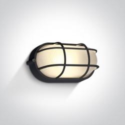 One Light kinkiet z kratką osłoną w stylu morskim kanałowa Santomeri 67444C/B/W IP54