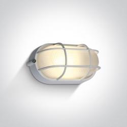 One Light kinkiet z kratką osłoną w stylu morskim kanałowa Santomeri 67444C/W/W IP54