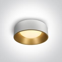 One Light plafon ozdobny LED okrągły 48 cm biały mosiądz Asteri 67452/W/W