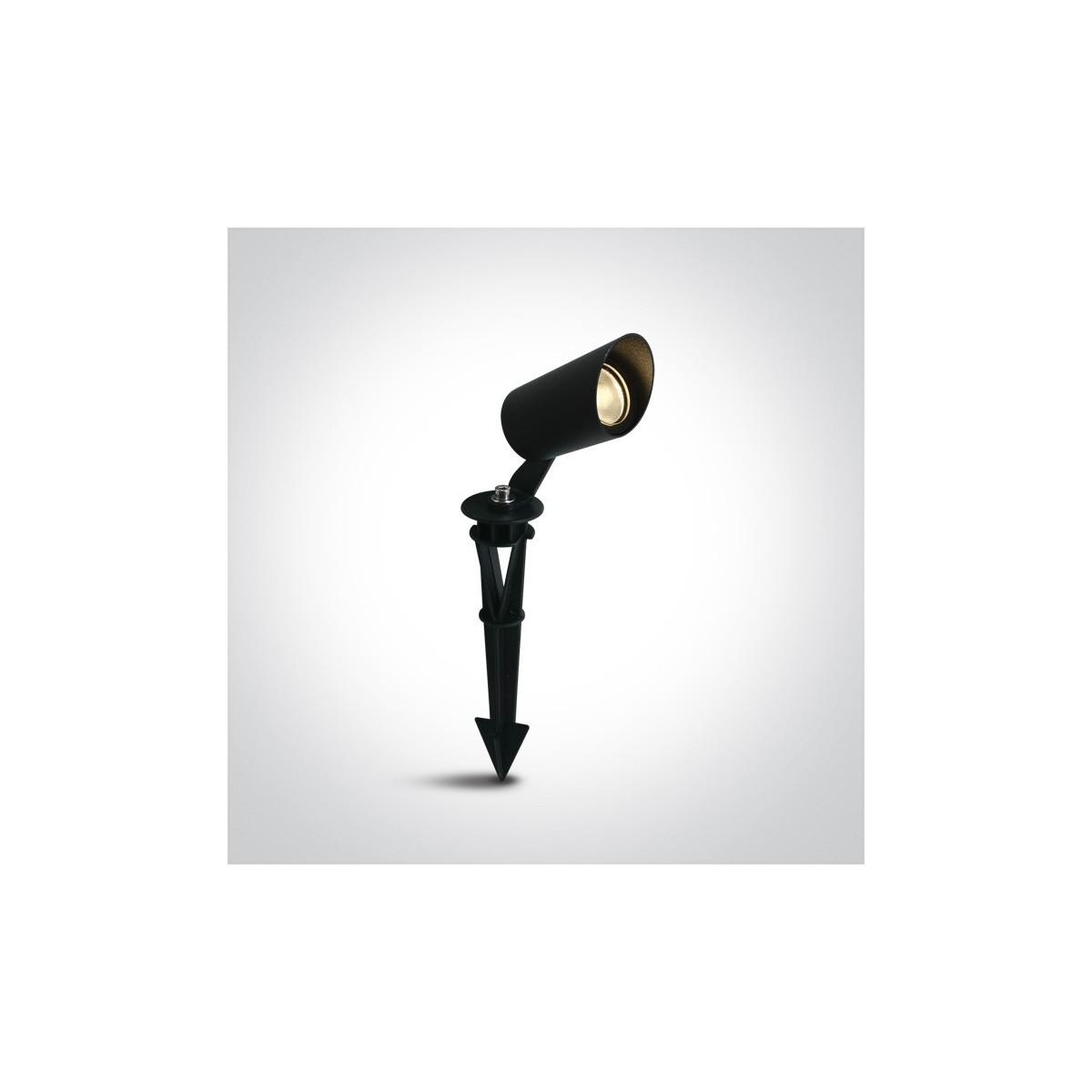 One Light lampa LED reflektor do ogrodu czarna Rakita 67456/B/W IP67