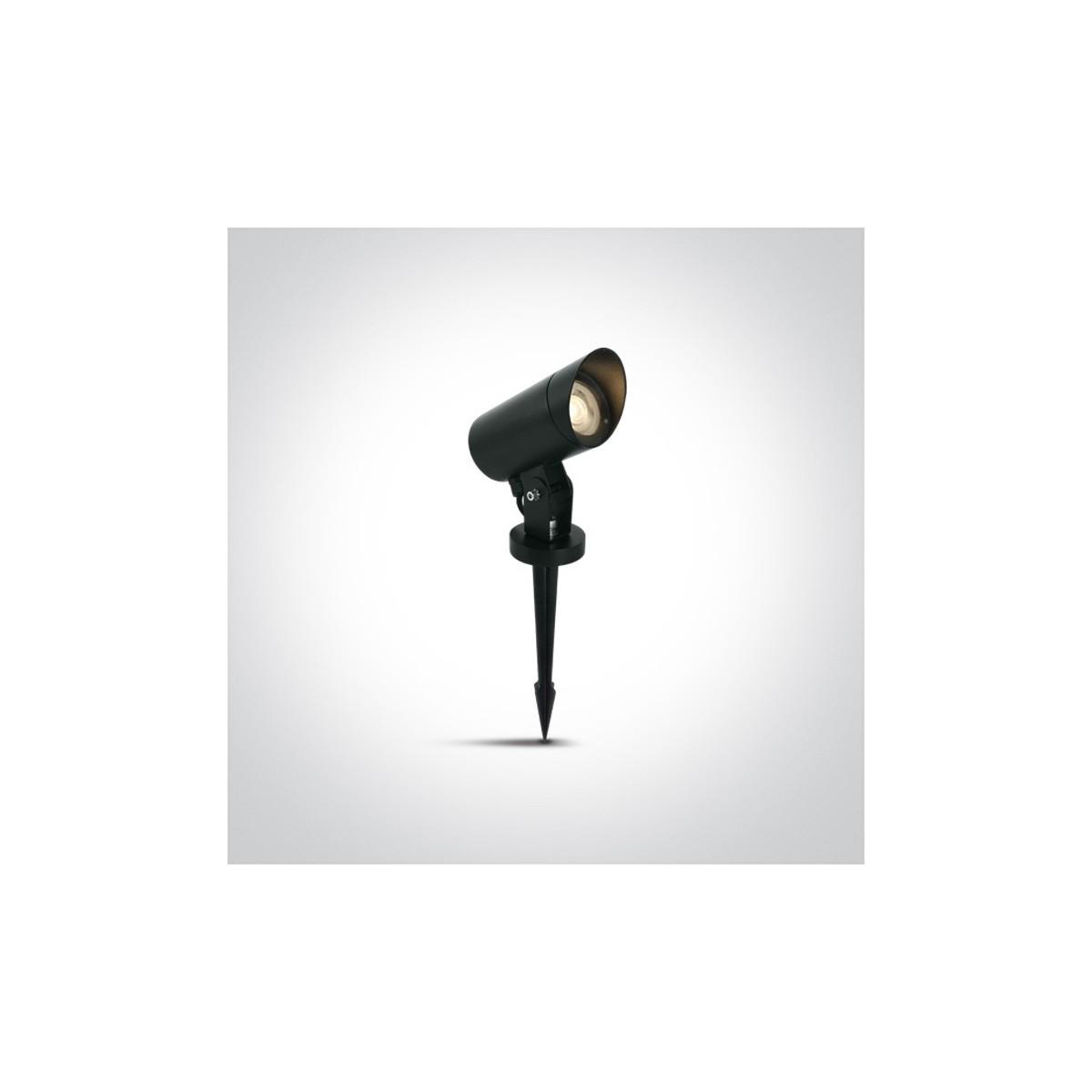 One Light czarna lampa ogrodowa z kolcem Doumena 67464G/B IP65