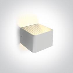 One Light nowoczesna lampa ścienna kinkiet biały kostka Geraki 67466A/W/W