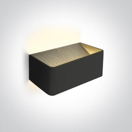 One Light lampa LED ścienna na zewnątrz dom elewacja czarna Geraki 2 67466B/B/W