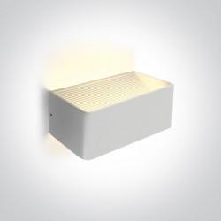 One Light lampa LED ścienna na zewnątrz dom elewacja biała Geraki 2 67466B/W/W