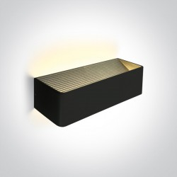 One Light lampa ścienna LED kinkiet na elewację dom ogród Geraki 3 67466C/B/W