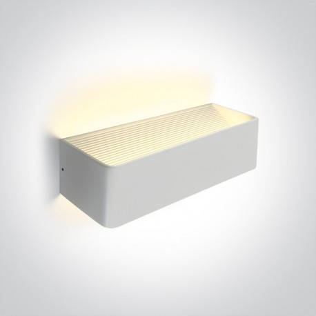 One Light lampa ścienna LED kinkiet na elewację dom ogród Geraki 3 67466C/W/W