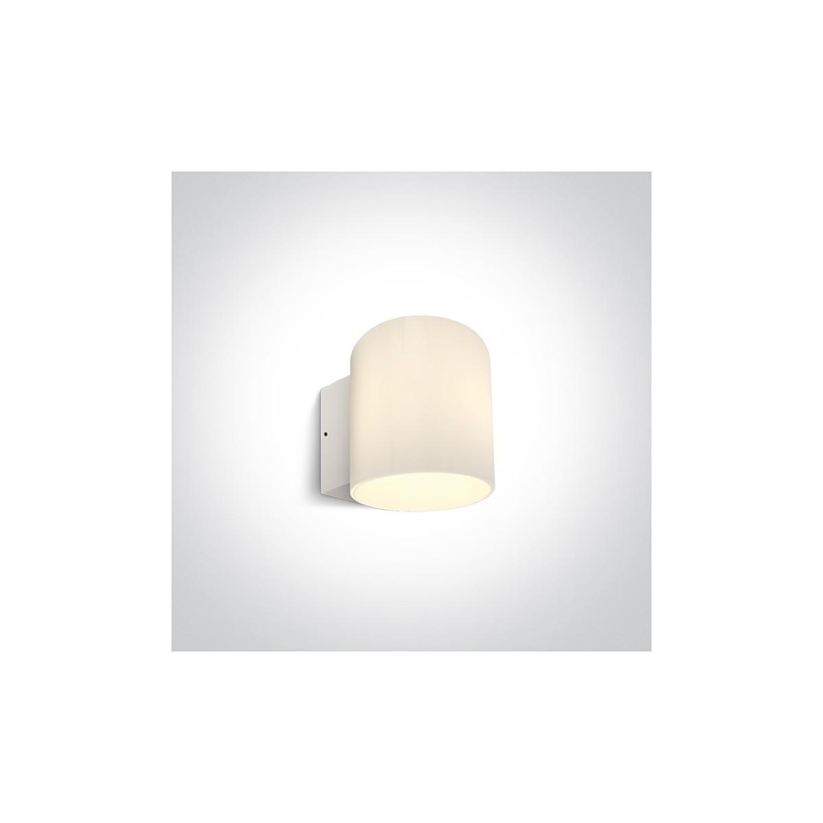 One Light biały kinkiet LED do domu ogrodu odporny na deszcz Chimadio 67468/W/W IP65