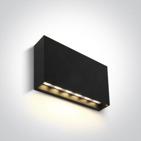 One Light kinkiet LED minimalistyczny antracyt mieszkanie loft elewacja Latzio 67472A/AN/W IP65
