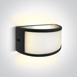 One Light półokrągły kinkiet LED ściana elewacja dom mieszkanie Smila 67474B/AN/W IP54