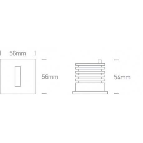 One Light wpust LED stylowy ozdobny mieszkanie dom elewacja Epitalio 68004/AL/W IP54
