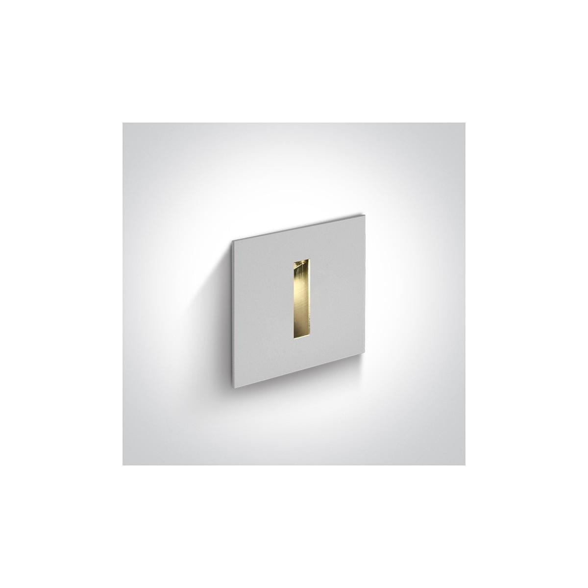 One Light wpust LED stylowy ozdobny mieszkanie dom elewacja Epitalio 68004/W/W IP54