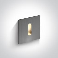 One Light wpust LED aluminiowy korytarz Kallikomo 68004B/AL/W