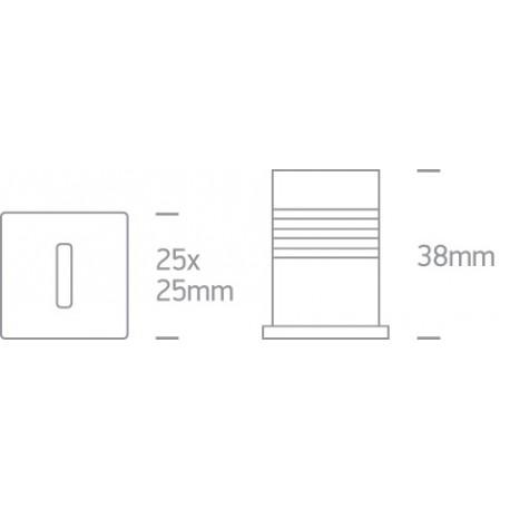 One Light wpust LED czarny aluminiowy korytarz Kallikomo 68004B/B/W
