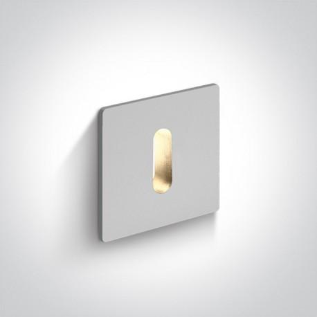 One Light wpust LED biały aluminiowy korytarz Kallikomo 68004B/W/W