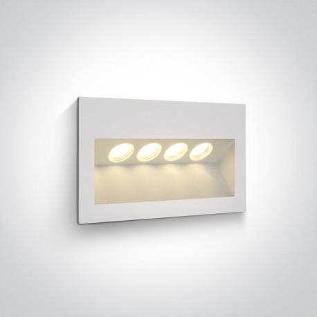 One Light lampa ścienna 4x1W oświetlenie schodów korytarza chodnika Raftis 4 68048/W/W IP65