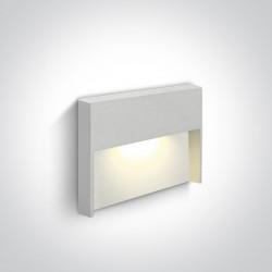 One Light lampa ścienna biała na korytarz schody chodnik Furni 68052/W/W IP65
