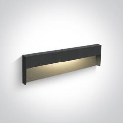 One Light lampa ścienna podłużna na korytarz chodnik elewacja Furni 2 68052A/AN/W IP65