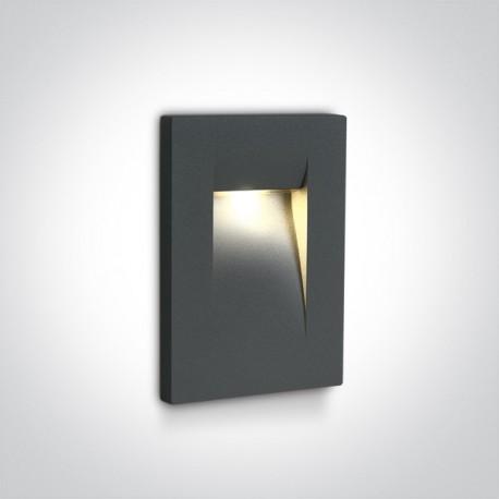 One Light lampa LED do oświetlenia korytarzy schodów chodnika Simi 68062/AN/W IP65
