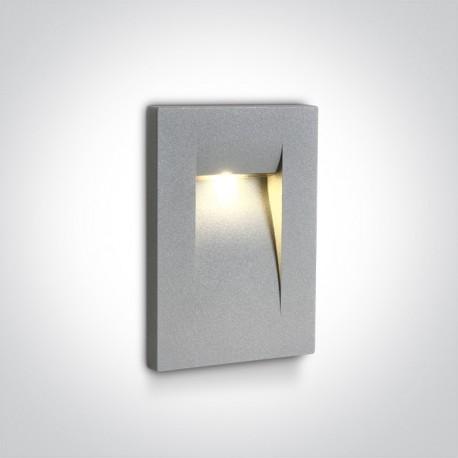 One Light lampa LED do oświetlenia korytarzy schodów chodnika Simi 68062/G/W IP65