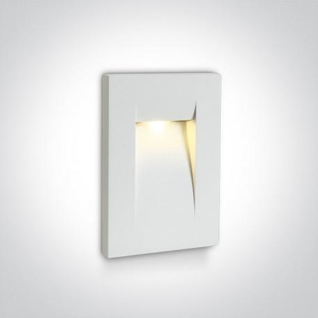One Light lampa LED do oświetlenia korytarzy schodów chodnika Simi 68062/W/W IP65