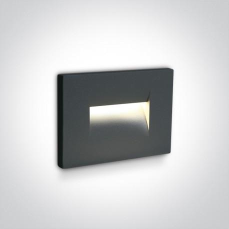 One Light wpust ścienny antracytowy oświetlenie korytarza schodów Simi 2 68064/AN/W IP65
