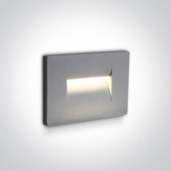 One Light wpust ścienny szary oświetlenie korytarza schodów Simi 2 68064/G/W IP65