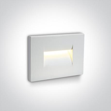 One Light wpust ścienny biały oświetlenie korytarza schodów Simi 2 68064/W/W IP65