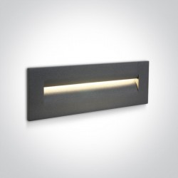 One Light wpust ścienny do oświetlenia schodów korytarza Simi 3 68066/AN/W IP65