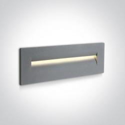 One Light wpust ścienny do oświetlenia schodów korytarza Simi 3 68066/G/W IP65