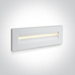 One Light wpust ścienny do oświetlenia schodów korytarza Simi 3 68066/W/W IP65