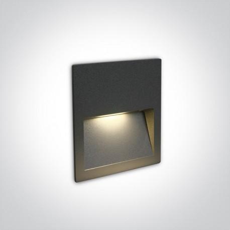 One Light lampa LED antracytowa do oświetlenia schodów korytarza Lapas 68068A/AN/W IP65