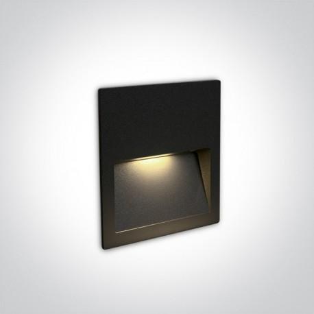 One Light lampa LED czarna do oświetlenia schodów korytarza Lapas 68068A/B/W IP65