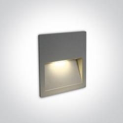 One Light lampa LED szara do oświetlenia schodów korytarza Lapas 68068A/G/W IP65