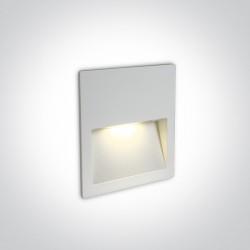 One Light lampa LED biała do oświetlenia schodów korytarza Lapas 68068A/W/W IP65